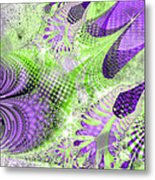 Shimmering Joy Abstract Digital Art Metal Print