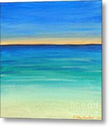Shimmering Sea Metal Print