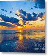 Shimmering Sundown Metal Print
