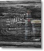Shiner Black Lager Metal Print