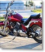 Shinny Red Bike Metal Print
