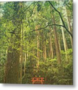 Shinto Shrine Deep In the Forest Metal Print