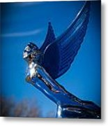 Shiny And Blue Metal Print