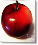 Shiny Red Apple Metal Print