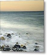 Shiny Rocks At The Sea Metal Print