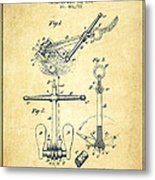 Ship Anchor Patent From 1892 - Vintage Metal Print