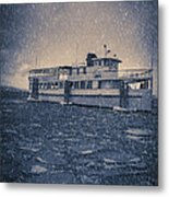 Ship In A Snowstorm Metal Print