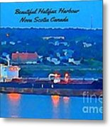 Ship In Beautiful Halifax Harbour Metal Print