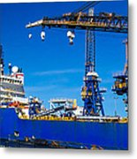 Ship In Port Metal Print