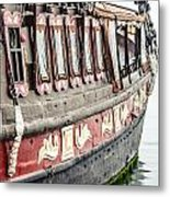 Ship In The Water. Metal Print