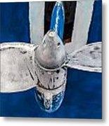 Ship Propeler. Metal Print by Slavica Koceva