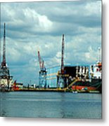 Ship Repair Metal Print