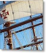 Ship Rigging Metal Print by Carlos Caetano