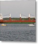 Ship Traffic At Casco Bay Metal Print