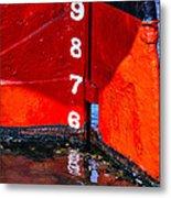 Ship Waterline Numbers Metal Print
