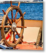 Ship Wheel Metal Print