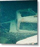 Ship Wreck With Trucks Metal Print