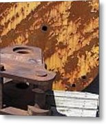 Ship Yard Rust 5 Metal Print