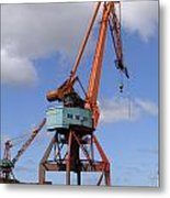 Shipping Industry Crane 06 Metal Print