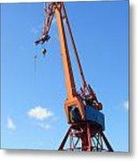 Shipping Industry Crane Metal Print