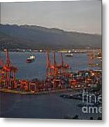 Shipping Terminals Port Of Vancouver Metal Print