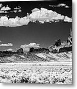 90272 Shiprock Dyke Long View Metal Print