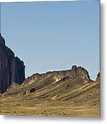 Shiprock Panorama - North West New Mexico Metal Print