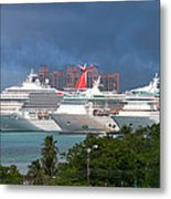 Ships And Atlantis Metal Print