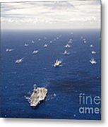 Ships And Submarines Participating Metal Print