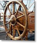 Ship's Helm Metal Print
