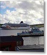 Ships In Lerwick Harbour Metal Print