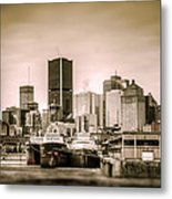 Ships Moored For Winter Metal Print by Martin New