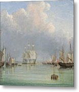 Ships Off Ryde Metal Print by Arthur Wellington Fowles