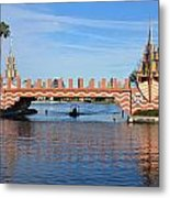 Ships On Waves Bridge Metal Print