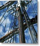Ships Rigging Metal Print