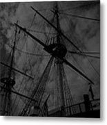 Ships Silhouette Metal Print