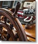 Ships Wheel Metal Print by Dale Kincaid