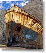 Shipwreck At Smugglers Cove Metal Print