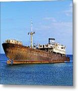 Shipwreck On Lanzarote Metal Print