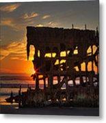 Shipwreck Sunburst Metal Print