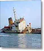 Shipwrecked Diesel Tanker Metal Print