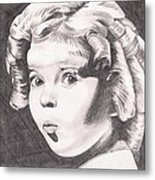 Shirley Temple Metal Print by Beverly Marshall