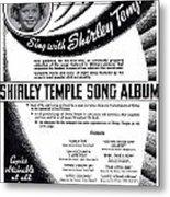 Shirley Temple Song Album Metal Print