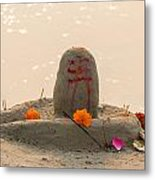 Shivling From Sand Metal Print
