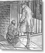 Shoe Shine Metal Print