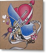 Shoeaholic Metal Print