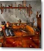 Shoemaker - The Cobblers Shop Metal Print by Mike Savad