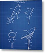 1bfe508e6f Shoes And Heels Patent From 1958 - Blueprint Metal Print by Aged Pixel