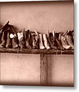 Shoes Metal Print by Fran Riley