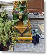 Shoes Outside The Temple Metal Print